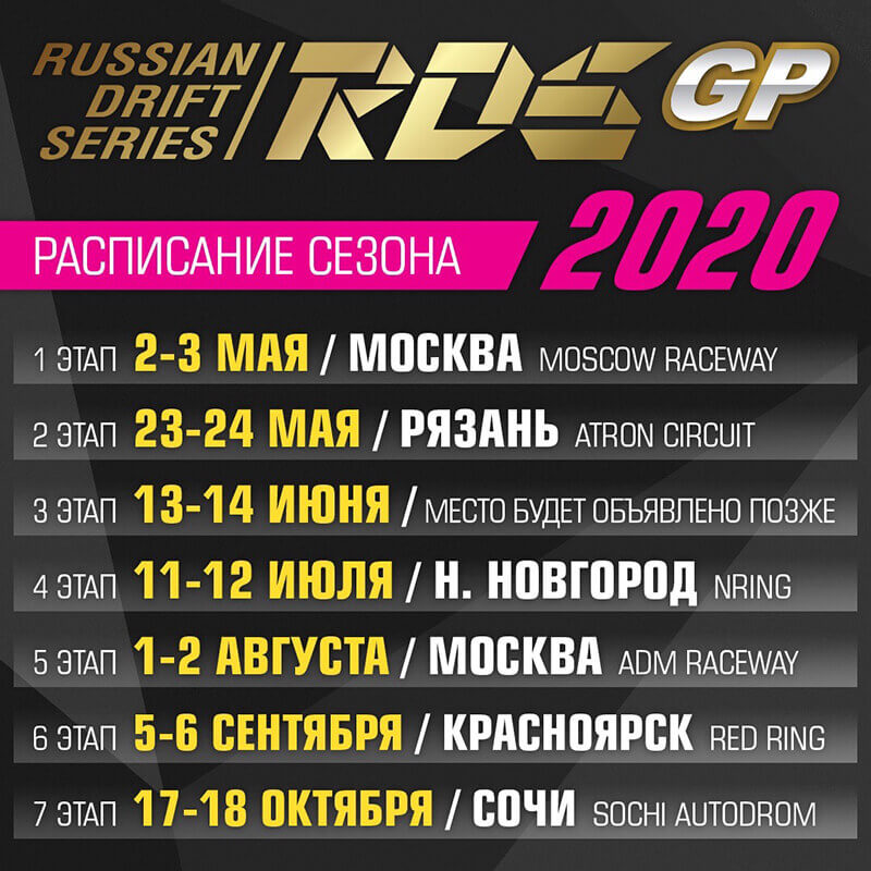 Москва: I этап Russian Drift Series GP / 2-3 мая 2020
